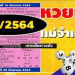 หวยไทยรัฐหวยแม่จำเนียร 1/2/64 เลขเด็ดหวยเด็ดหวยดัง หวยแม่จำเนียรงวดนี้ วันนี้