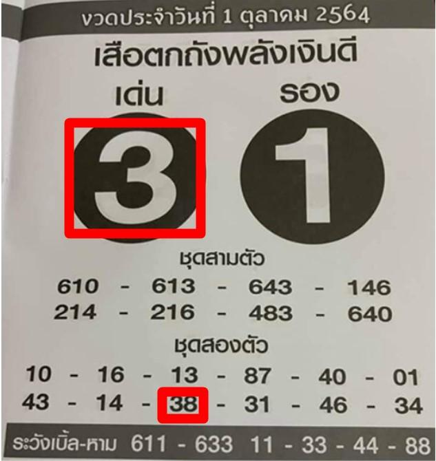 เสือตักถังพลังเงินดี1/10/64